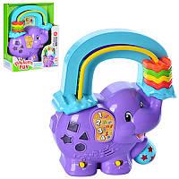 Детская развивающая Игра 31363 слон 24-19,5-6,5см, 2реж, обуч(цифр), муз, зв (англ,исп,франц), св, бат.