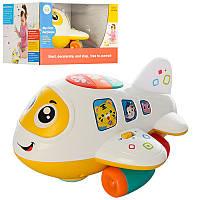 Детская развивающая игра Самолет 6103, 20см, муз, свет, рег. громк, ездит, на бат-ке, в кор-ке, 24-23-15см
