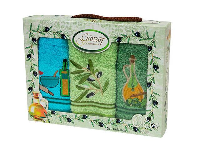 Набір кухонних рушників Gursan Olive махра 30х50, фото 2
