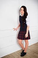 Сарафан школьный синий, сарафан для школы, сарафан классический для девочки подростка, школьные платья