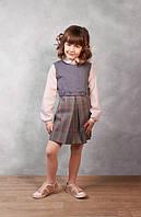 Классический сарафан школьный серый, сарафан на девочку, платье в школу, сарафан школьный, школьная форма