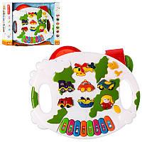 Детская музыкальная игрушка Пианино B6098, обуч (трансп,ноты), муз-звук (англ), свет, 4 реж.работ, на бат-ке