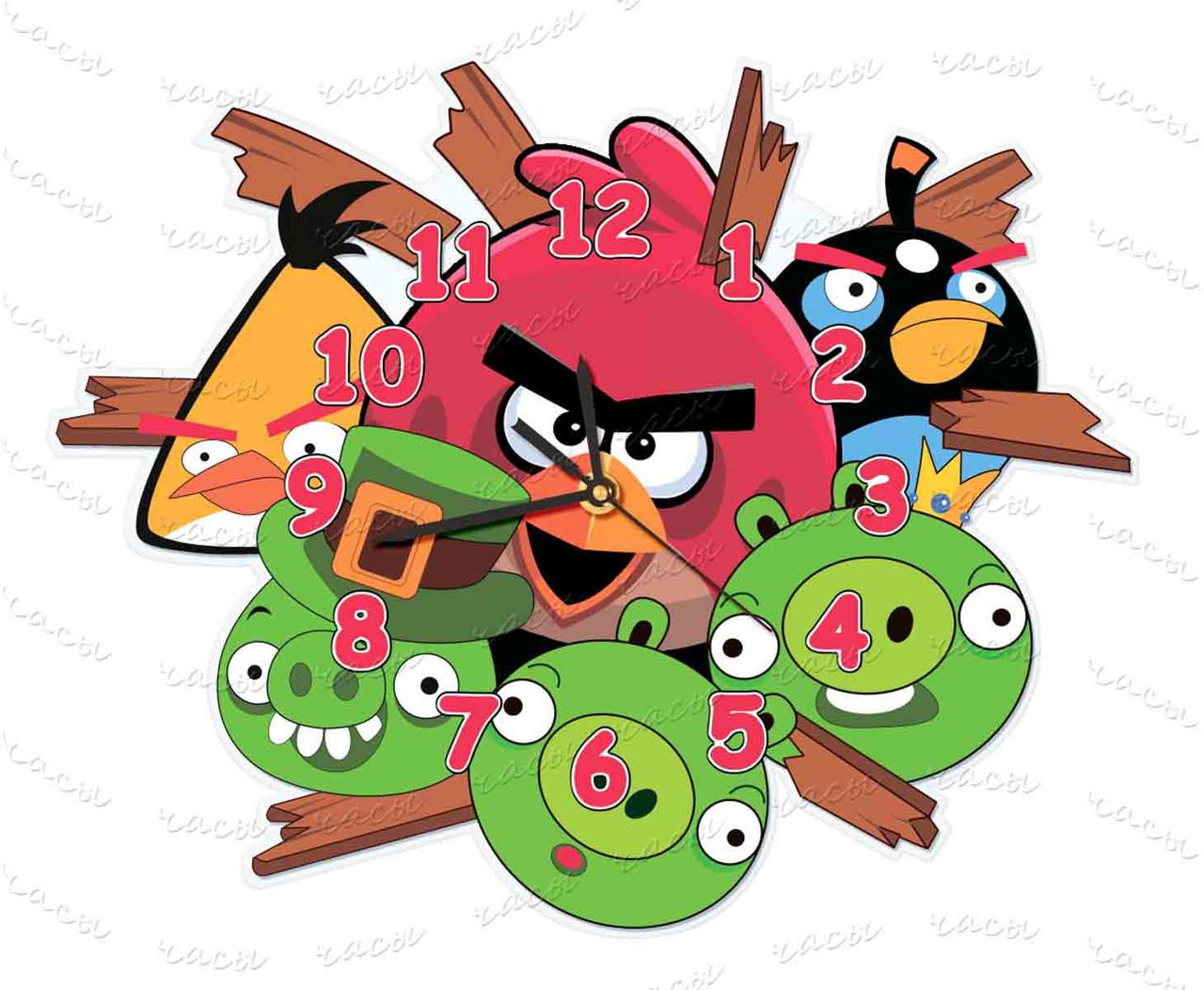 Часы детские огрстекло Птички