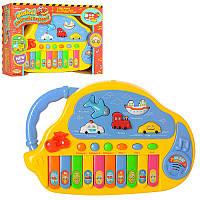 Детская музыкальнаяигрушка Пианино HK-988, муз, свет, на бат-ке, в кор-ке, 27-19-5,5см