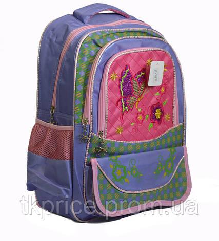 Школьный рюкзак для девочки сиреневый, фото 2