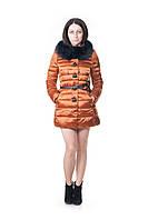 Женский зимний пуховик Vininus с натуральным мехом с натуральным мехом L