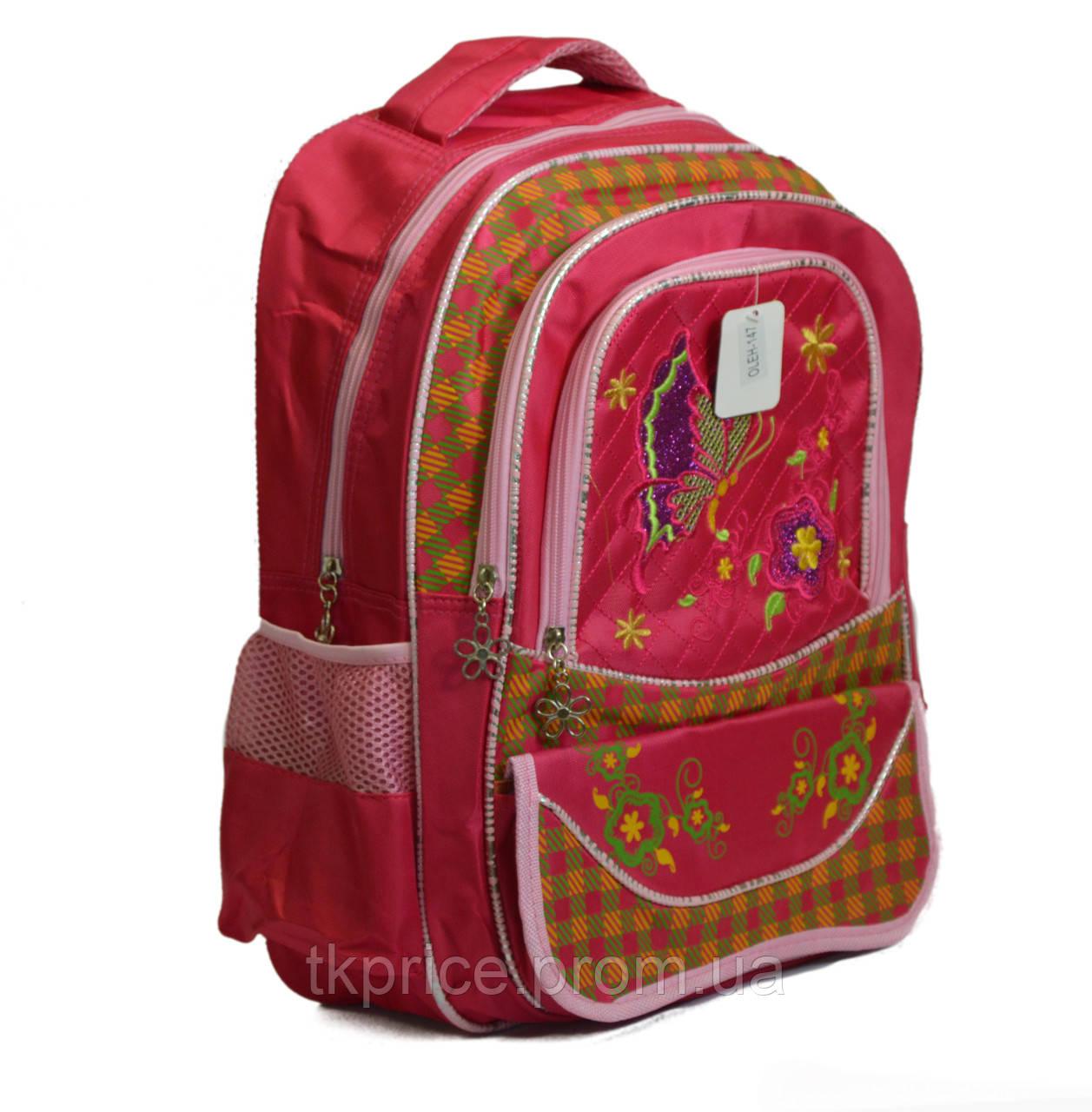 Школьный рюкзак для девочки красный