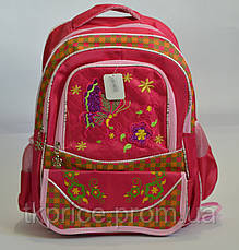 Школьный рюкзак для девочки красный, фото 2