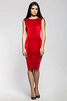 Изящное велюровое платье алого цвета