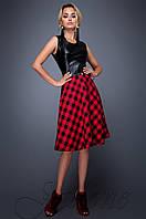Молодежное платье Сакура красный Jadone Fashion 42-48 размеры
