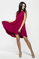Праздничное платье из крепа с ассиметричным подолом