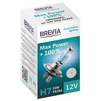 Галогеновая лампа Brevia H7 Max Power +100% 12v/55w