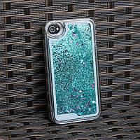 Чехол для iPhone 4 4S жидкий с блестками, фото 1