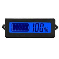 Индикатор уровня заряда аккумулятора ЖКИ, 12-63в Синий