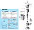 Дренажный насос Насосы+ WQD 10-8-0,55F (0,725 кВт, 250 л/мин), фото 2