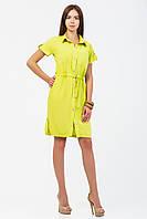Стильное платье-рубашка со спущенным рукавом из штапеля