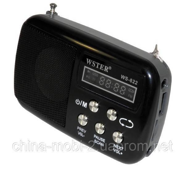 Портативная колонка WS-822 MP3 SD USB AUX FM
