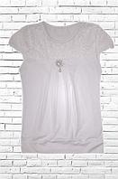 Блуза подростковая школьная короткий рукав