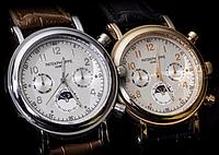 Наручные мужские часы в стиле Patek Philippe, стильные часы для мужчин, кварцевые наручные часы, мужские часы