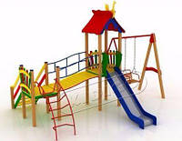 Игровой детский комплекс для улицы Верблюжонок, высота горки 1,5 м ТМ KIDIGO DK02115G