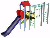 Игровой детский комплекс для улицы Котик, высота горки 1,8 м ТМ KIDIGO DK00918