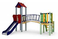 Игровой детский комплекс для улицы Солнышко, высота горки 0,9 м ТМ KIDIGO DK01309