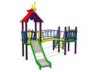 Игровой детский комплекс для улицы Солнышко, высота горки 1,2 м ТМ KIDIGO DK01312