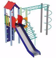 Игровой детский комплекс для улицы Умелые ручки, высота горки 1,5 м ТМ KIDIGO DK00315