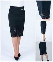 Женская юбка - карандаш из костюмной ткани размеры 46-58