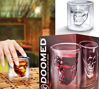 Креативный бокал череп DOOMED, оригинальный бокал, стакан с черепом внутри, бокал череп