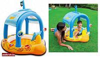 Бассейн для детей надувной с навесом Intex 57426 Маленький капитан 107*102*99см, бассейн для малышей