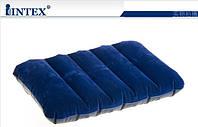 Подушка надувная флокированная Intex 68672 Downy Pillow Intex 43*28*9см, мягкая надувная подушка INTEX