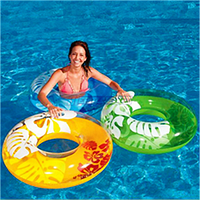 Надувной круг Перламутр Intex 59251 76см 2 цвета, плавательный круг, детский надувной круг для плавания