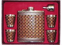 Подарочный набор фляга + 4 стопки + лейка F5-90, фляга для алкоголя, подарочный набор для мужчины