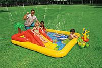 Детский надувной игровой центр-бассейн Intex 57454 Аквапарк, надувной бассейн для детей 254*196*79см