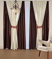 Классический комплект штор и тюль с фото