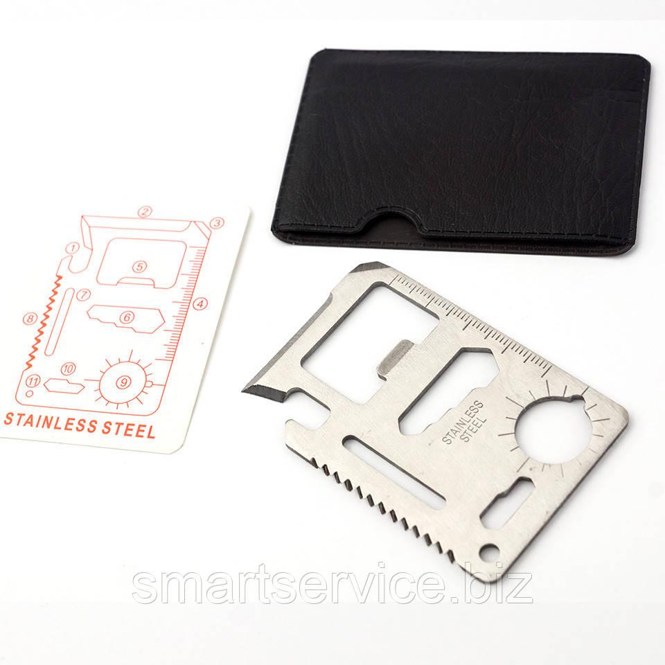 Многофункциональный нож - кредитка 10 в 1
