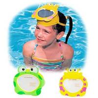 Маска для подводного плавания Животные Intex 55910, маска для плавания детская 3-8лет, детская маска 2вида