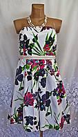 Новое стильное платье с поясом FASHION ELLE хлопок М 44-46 С105N