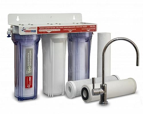 Трехступенчатая фильтрующая система Новая Вода NW-F301, фильтр очиститель новая вода, фильтр под мойку -  интернет-магазин «PRIME FOX» в Киеве