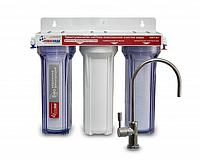 Фильтр трехступенчатого типа Новая Вода NW-F300, фильтр для очистки воды новая вода, фильтр под мойку