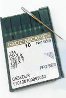 Игла Groz-Beckert 134, DPx5, 135x5 FFG GEBEDUR с толстой колбой и позолотой для трикотажа 10 шт/уп
