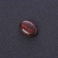Фурнитура Кабошон Красная Яшма нат камень 1,3х1,8см (+-)