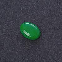 Кабошон Хризопраз нат камень 1,3х1,8см (+-)