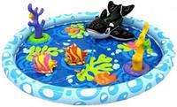 Игровой центр-бассейн Intex с касаткой, рыбками, кораллом