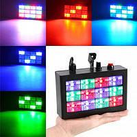 Стробоскоп диско лазер разноцветный LASER 12L MP3, световой проектор для вечеринки