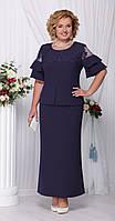 Платье синие и красное Ninele-2100/1 белорусский трикотаж