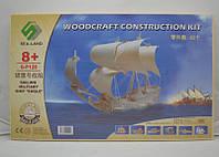 3D пазл корабль 1 (5 досок), объемный пазл конструктор, купить подарок для ребенка