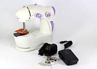 Мини швейная машина FHSM 201 4 в 1 с педалью и адаптером, компактная швейная машинка