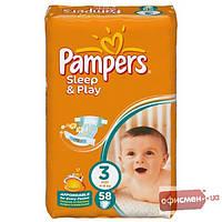 Подгузники Pampers Sleep & Play Размер 3 (Midi) 5-9 кг, 58 шт (4015400224211)